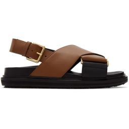 Brown Fussbett Sandals