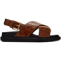 Brown Croc Sandals Fussbett Sandals