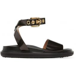Black Fussbett Ankle Strap Sandals