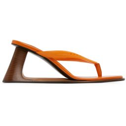 Orange Open Heeled Thong Sandals