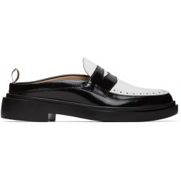 Black & White Cupsole Penny Loafers
