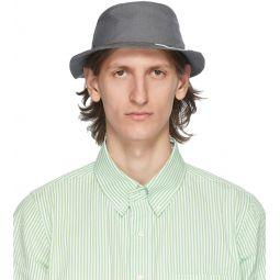 Grey 4-Bar Classic Bucket Hat