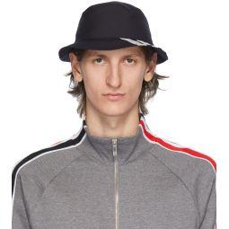 Navy 4-Bar Classic Bucket Hat