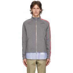 Grey Stripe Track Jacket