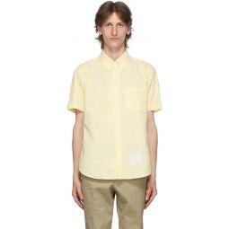 Yellow Seersucker Short Sleeve Shirt