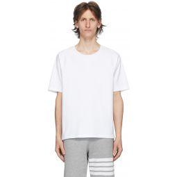 White Interlocking Stripe Short Sleeve T-Shirt