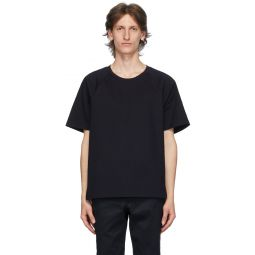 Navy Interlocking Stripe Short Sleeve T-Shirt