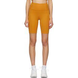 Yellow High-Rise Biker Shorts