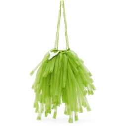 Green Organza Mini Fringe Bag