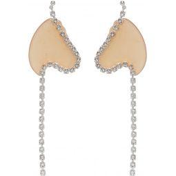 Orange Strass Chain Earrings