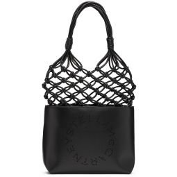 Black Alter Nappa Small Logo Knot Tote