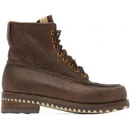 Brown Kainai Moc-Toe Folk Boots
