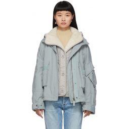 Blue Lamb Lining Padded Jacket