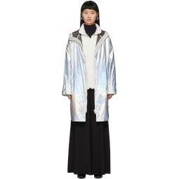 Silver Down Iridescent Removable Insert Coat