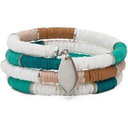Green & White Shell Wrap Bracelet