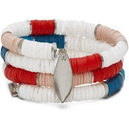 Pink & White Shell Wrap Bracelet