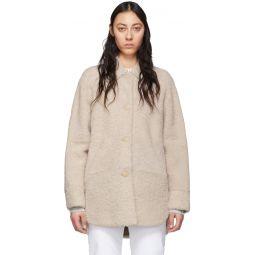 Reversible Off-White Shearling Sarvey Coat