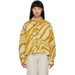 Yellow & White Hanao Shirt Jacket