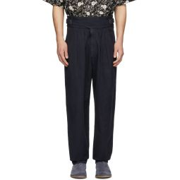 Black Ogeny Trench Trousers