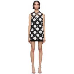 Black & White Daisy Mini Dress