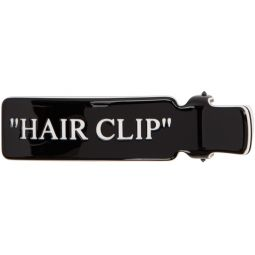 Black Quote Hair Clip
