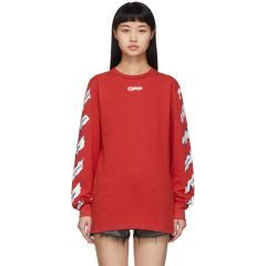 Red Airport Tape Long Sleeve T-Shirt
