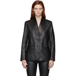 Black Alberta Leather Jacket
