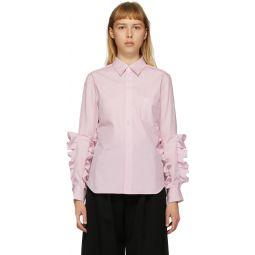 Pink Broad Double Ruffle Shirt