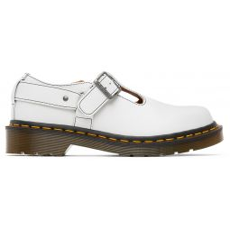 White Dr. Martens Edition T-Bar Harness Mary-Janes