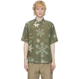 Green Kaleidoscope Floral Shirt