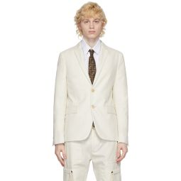 White Cotton Sports Blazer