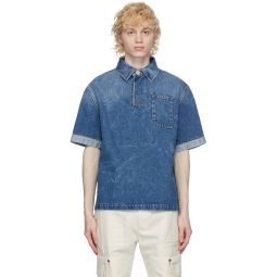 Blue Denim Light Wash Polo