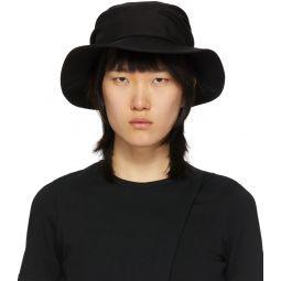 Black Gathered Hat