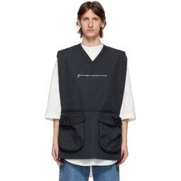Navy Pocket Vest