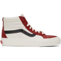 Red & Off-White Sk8-Hi Reissue VI Sneakers