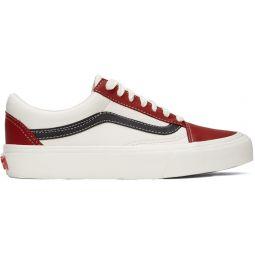 Red & Off-White OG Old Skool VLT LX Sneakers