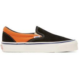 Orange & Black OG Classic Slip-On LX Sneakers