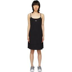 Black Crystal Logo Dress