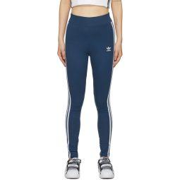 Blue 3-Stripes Leggings