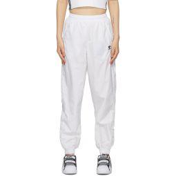 White Big Logo Lounge Pants