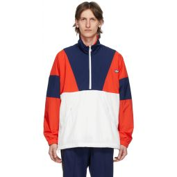 Red & Navy Colorblock Track Jacket