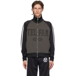 Black & Grey Raglan Track Jacket