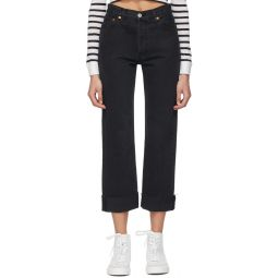 Black 90s Loose Straight Jeans