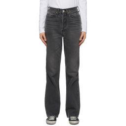Black 70s Bootcut Jeans