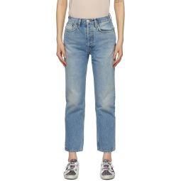 Blue 70s Stove Pipe Jeans