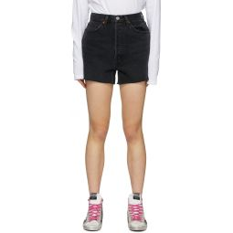Black Denim 50s Cut-Off Shorts
