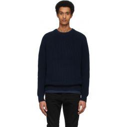 Navy Fisherman Sweater