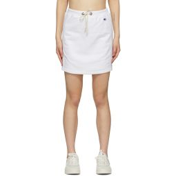 White Logo Sweat Skirt