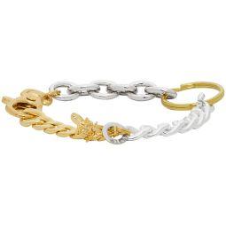 Gold & Silver Materialmix Bracelet