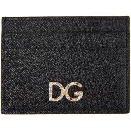 Black Dauphine Card Holder